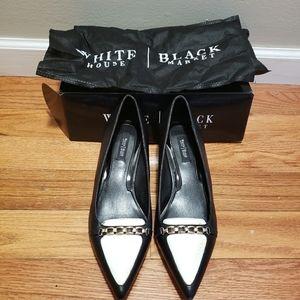 "White House Black Market ""Sadie"" low heel pumps"